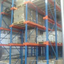 almacenamiento en rack de almacenamiento pesado en el sistema