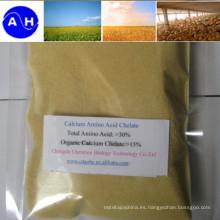 Grado de alimentación de quelatos de aminoácidos de calcio