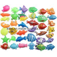 Los pescados plásticos de doble cara pescan los juguetes educativos de los niños