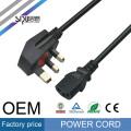 Cable de alimentación de computadora de alta velocidad de SIPU para el cable de alimentación del estilo del Reino Unido del mejor precio de la CA al por mayor del ordenador portátil