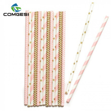 High quality Wholesale patterned eco paper straws china supplier printing