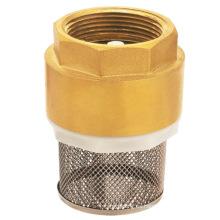 Válvula de retención de resorte de latón con red, válvula de retención de latón J5001 pn16