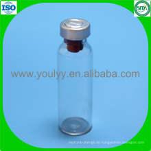 Röhrenglas-Durchstechflasche mit Aluminiumkappe