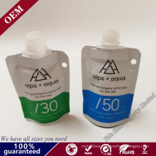 Stand up Doypack Bag with Pour Spouts for Liquid Cream Sauce Packaging