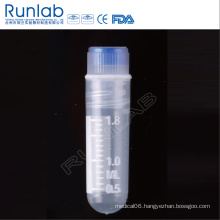 2ml Internal Thread Round Bottom Cryo Vial with Silicone Washer Seal