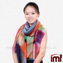 Пользовательские красочные карандаш цифровой печати пашмины шарф шаль
