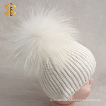 Fábrica de suministro directo de algodón Baby Pom Pom Beanie Hat