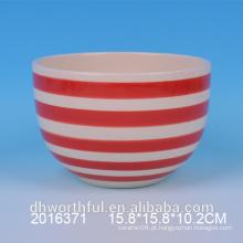Todos os tipos de tamanho Red & White Ceramic Bowl