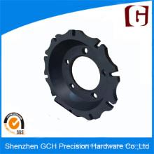 Durable Precisión Rotor Bell Coche de repuesto de piezas de mecanizado con anodizado negro