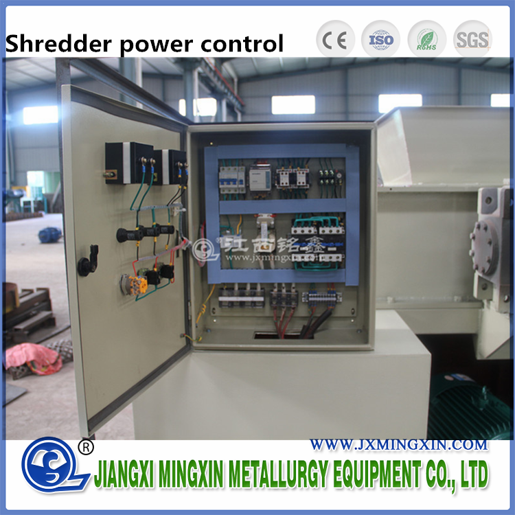Single Shredder Shaft Industrial / Rotary Shredder