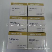2/0 suture de catgut chromique absorbable