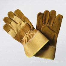 Goldener Rindspaltlederhandschuh-3070