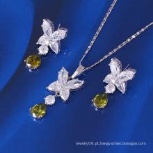 Xuping Drop Forma Luxo CZ conjunto de jóias de pedra (60648)