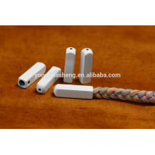 Die-casting alloy material white square cheap metal cord aglet