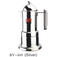 4cup Silver Moka Coffee Maker