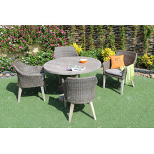 Leading Design Garden Dining Set PE Rattan Resin Wicker Furniture