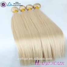 Große unverarbeitete Jungfrau 613 eurasische Haarverlängerung gerade Remy menschliche blonde russische Haare