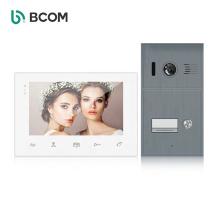 Hot sell 2wire multi apartment intercomunicadir video door phone , 2 outdoor units intercom ,high quality color video door phone