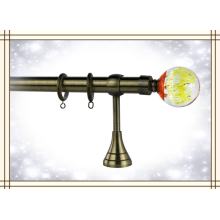Finial de vidro de alta qualidade, Finial da esfera de Rod da cortina, Finial de bronze do desenhador