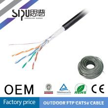 SIPUO mejor calidad sftp cat5e exterior mensajero lan cable sólido