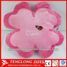personalized embroidery stuffed soft flower shaped plush pillow