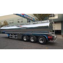 Semirremolque de camión cisterna de combustible de aleación de aluminio con espejo
