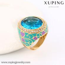 13718 Xuping mais novo estilo bispo de cristal anéis com ouro 18k