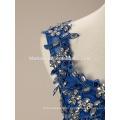 Мода Женщины Синий Короткие Мини Элегантный Мягкий Кружево Вечернее Платье