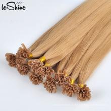 Silk Straight Double Drawn U Extensions de cheveux à ongles cuticule humaine alignés