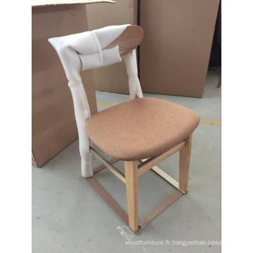Chaise en bois massif importée de style moderne de restaurant de Chine