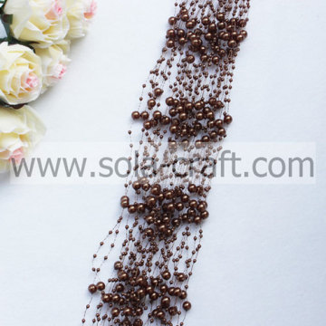 Manufactory Coffee beaded chains of the ABS pearl beaded garland with low price for decorative flowers & wreath