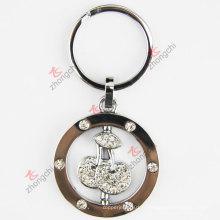 Chine Zinc Alloy Key Chain Factory Vente en gros Cheap Zinc Alloy Rotatable Funy Key Ring