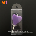 Customer Customized Assorted Colour Available Heart Candle Birthday For Cake