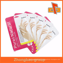 Facial eye or hand mask foil bag package with custom printing