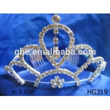 Rhinestone-Tiara-Hochzeit Braut-Krone Krone Polsterung Stoff Hochzeit Braut-Tiara