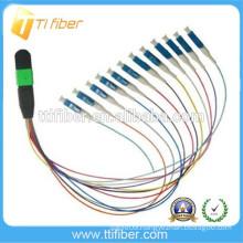 12 Fibers MPO Female to LC Fiber Optic Cable