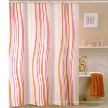 Rideau de douche en polyester à volants