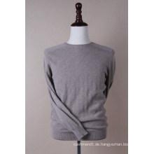 Rundhals-Check-Pullover für Herren