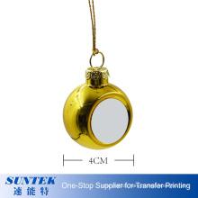 4cm 6cm 8cm Custom Logo Christmas Tree Hanging Ball Ornaments Printable Plastic Christmas Decoration Ball