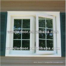 Fenêtre de salle de bains upvc / fenêtres de renfort upvc / guangzhou fenêtres upvc