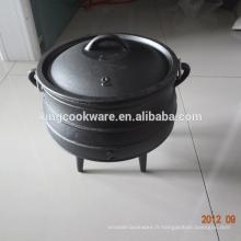 Sou8th Africa 3 Leg Potjie Pot 3 en fonte de haute qualité pour le camping