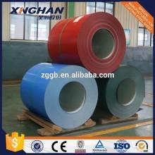 Bobine en acier galvanisé prépeint PPGI Norme EN JIS GB pour les toitures métalliques