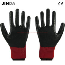 U204 Нитриловые покрытые рабочие перчатки Zebra-Stripe