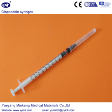 Jeringa estéril desechable con aguja de 1 ml (ENK-DS-061)