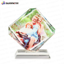 Directement Factory Small MOQ Hot Selling High Quality Christmas Sublimation Blank Crystal Photo Block Crystal Cadeaux Souvenirs