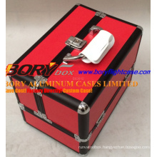 Wonderful Aluminum with Trays Two Door Professional Make up Case