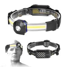 2021 New 7 Light Modes Lightweight 500lumen Super Bright LED Headlights Waterproof Rechargeable Headlamp for camping running