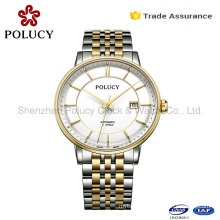 Wholesale Automatic Mechanical Gold Men Skeleton Stainless Steel Imported Watches