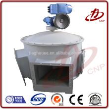Unloading valve, airlock feeder or star unloader valve used under dust collector