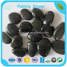 Poseer guijarros negros puros de la fábrica Piedra / guijarros coloridos mezclados